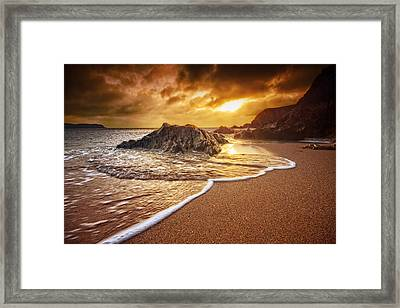 Breakthrough At Leas Foot Framed Print by Mark Leader