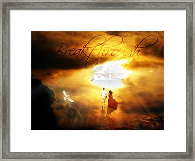 Breakthrough Framed Print by Art By Demarti