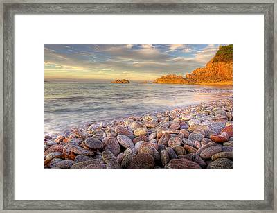 Breakwater Beach Framed Print by Phil Hemsley