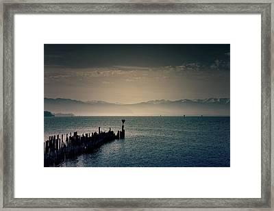Breakwater Framed Print by Joana Kruse