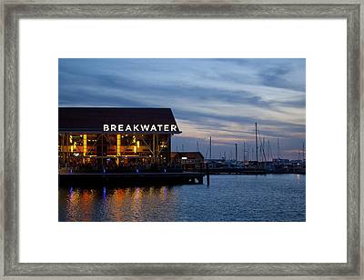Framed Print featuring the photograph Breakwater  by Serene Maisey