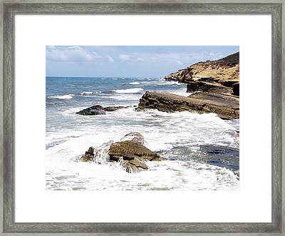 Breakwaters At Point Loma Framed Print