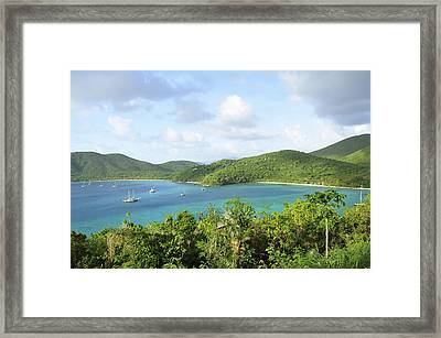 Breath-taking View Of Maho Bay, St John Framed Print