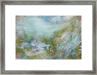 Framed Print featuring the painting Breathe  by Jan Swaren