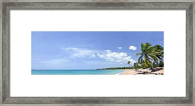 Breathtaking Tropical Beach Panorama Framed Print by Sebastien Coursol