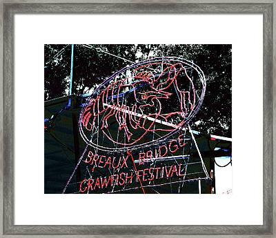 Breaux Bridge Crawfish Festival Framed Print by Lizi Beard-Ward