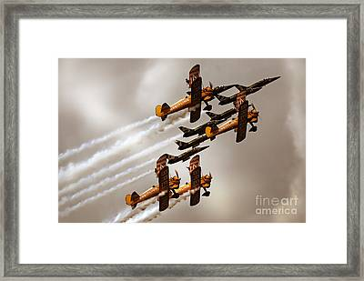 Breitling Jet Team With Wingwalkers Framed Print by Angel  Tarantella