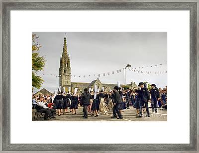 Breton Dancing Framed Print by Sophie De Roumanie
