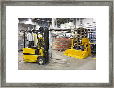 Brewery And Drinks Industry Warehouse Framed Print