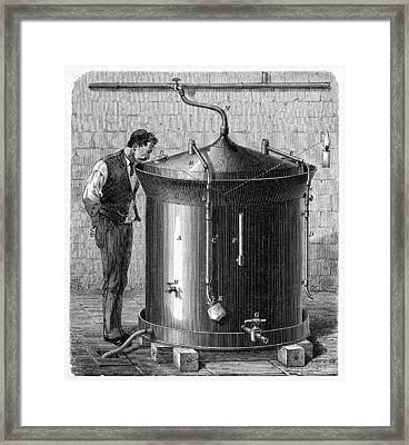 Brewery Vat, 19th Century Framed Print by Cci Archives