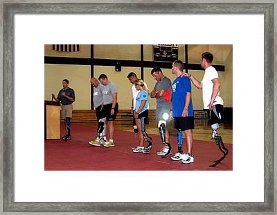 Brian Frasure Paralympian Speaking Framed Print by Everett