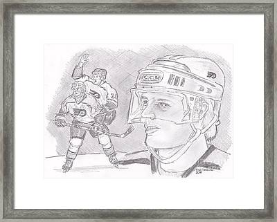 Brian Propp Framed Print by Chris  DelVecchio