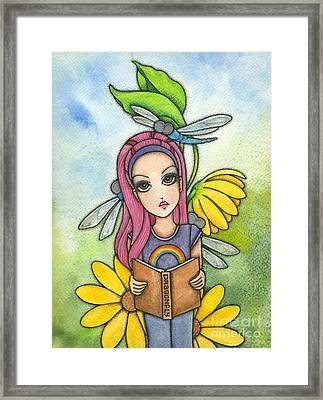 Brianna's Dragonflies Framed Print by Nora Blansett