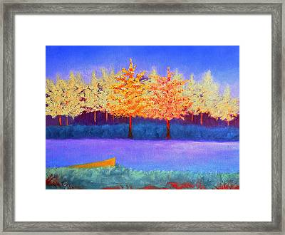 Brians Lake Framed Print by Karin Eisermann