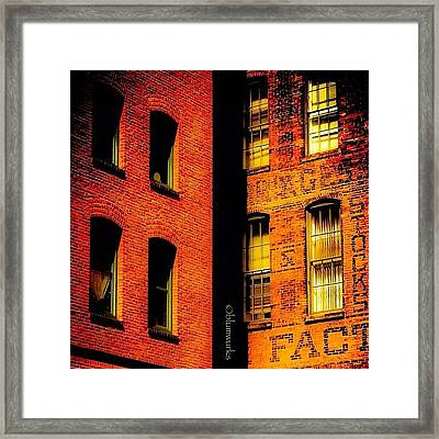 Brick & Glass Framed Print