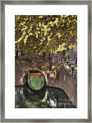 Brick Bridge Over Canal Framed Print by Andersen Ross