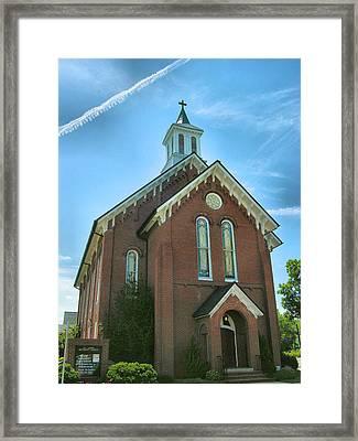 Brick Church Framed Print by Steven Ainsworth