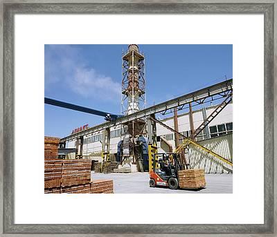 Brick Factory Framed Print by Ria Novosti