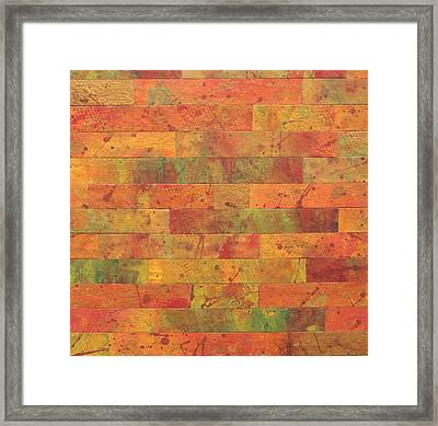 Framed Print featuring the painting Brick Orange by Kathy Sheeran