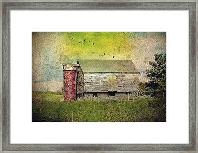 Brick Silo Framed Print by Kathy Jennings