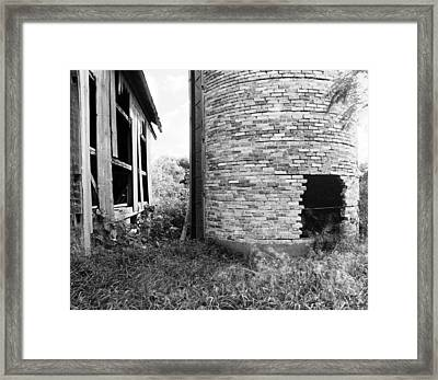 Brick Silo Wales Framed Print by Jan W Faul