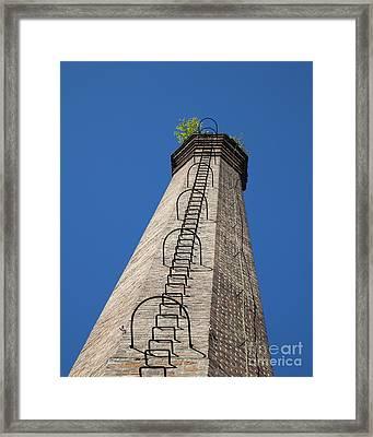 Brick Tower Framed Print by David Buffington