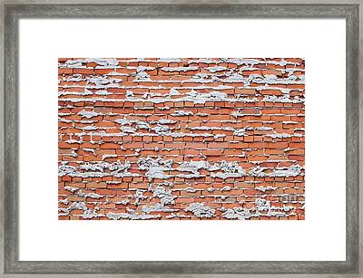 Framed Print featuring the photograph Brick Wall With Mortar by Les Palenik