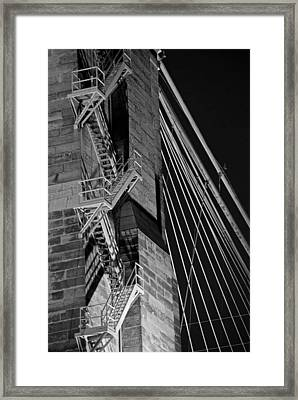 Bricks And Cables Framed Print
