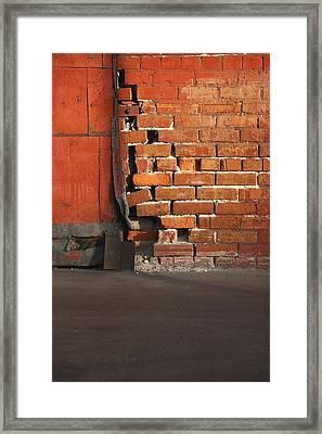 Bricks Framed Print by Pat Williams
