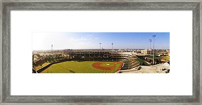 Bricktown Ballpark Framed Print by Ricky Barnard