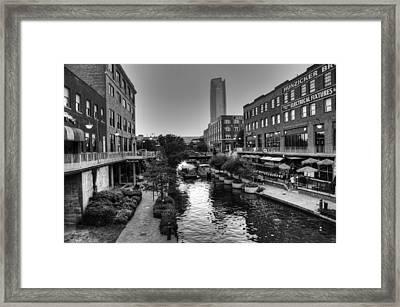 Bricktown Canal Framed Print by Ricky Barnard