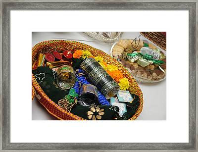 Bridal Accessories Framed Print by Ambreen Jamil