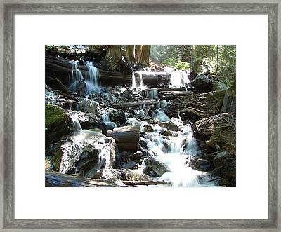 Bridal Veil Falls Creek Framed Print