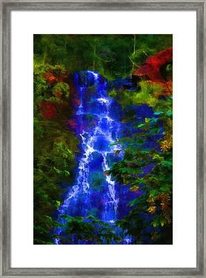 Bridal Veil Falls Framed Print by Michael Cleere
