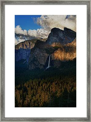 Bridalveil Falls At Sunset Framed Print