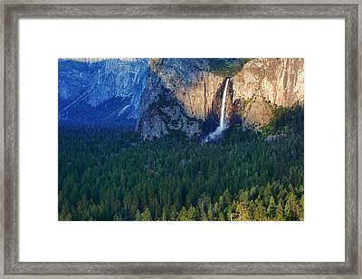 Bridalveil Falls In The Spotlight Framed Print