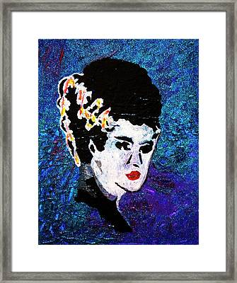 Bride Of Frankenstein Framed Print by April Harker