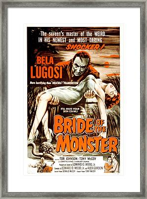 Bride Of The Monster, Bela Lugosi, 1955 Framed Print
