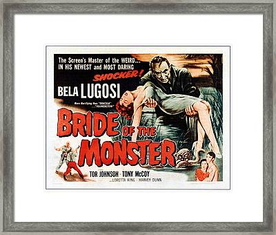 Bride Of The Monster, Top Bela Lugosi Framed Print by Everett