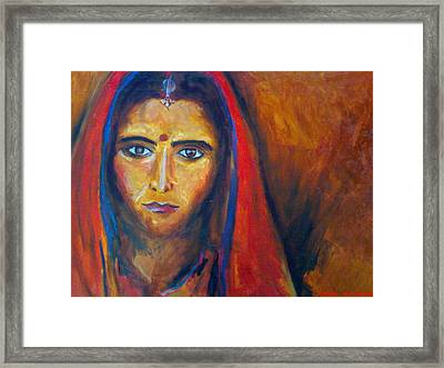 Bride Prejudice Framed Print by Navjeet Gill