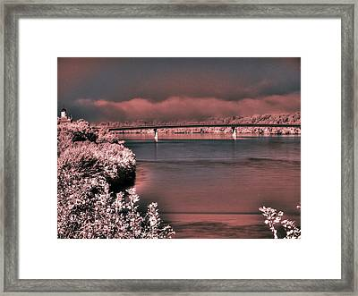 Framed Print featuring the photograph Bridge Across The Mo by William Fields