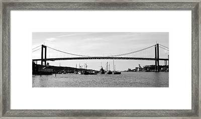 Bridge And Boats Framed Print by Smallfort Photography Collection