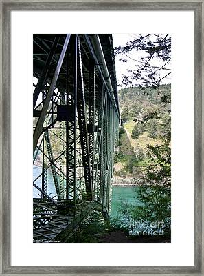 Bridge At Deception Pass Framed Print