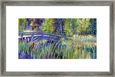 Framed Print featuring the painting Bridge At Habersham by Gertrude Palmer