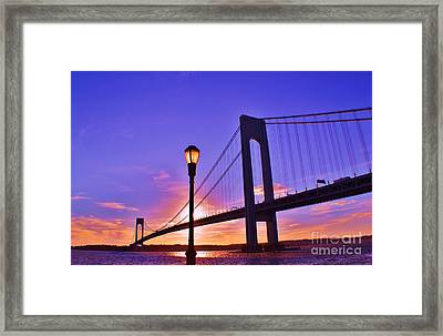 Bridge At Sunset 2 Framed Print by Artie Wallace