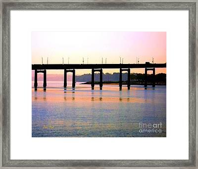 Bridge At Sunset Framed Print