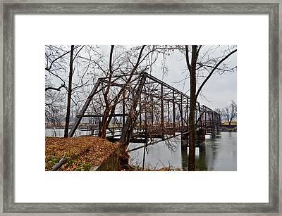 Bridge At Winter Framed Print by Brenda Becker