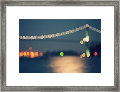 Bridge Bokeh! Framed Print by Arshia Mandegarian
