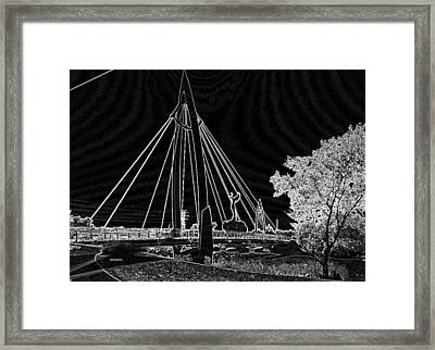 Bridge Electrified Framed Print by David Alvarez