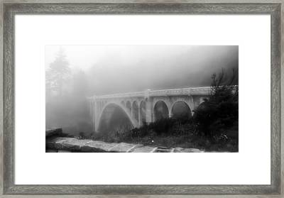 Framed Print featuring the photograph Bridge In Fog by Katie Wing Vigil